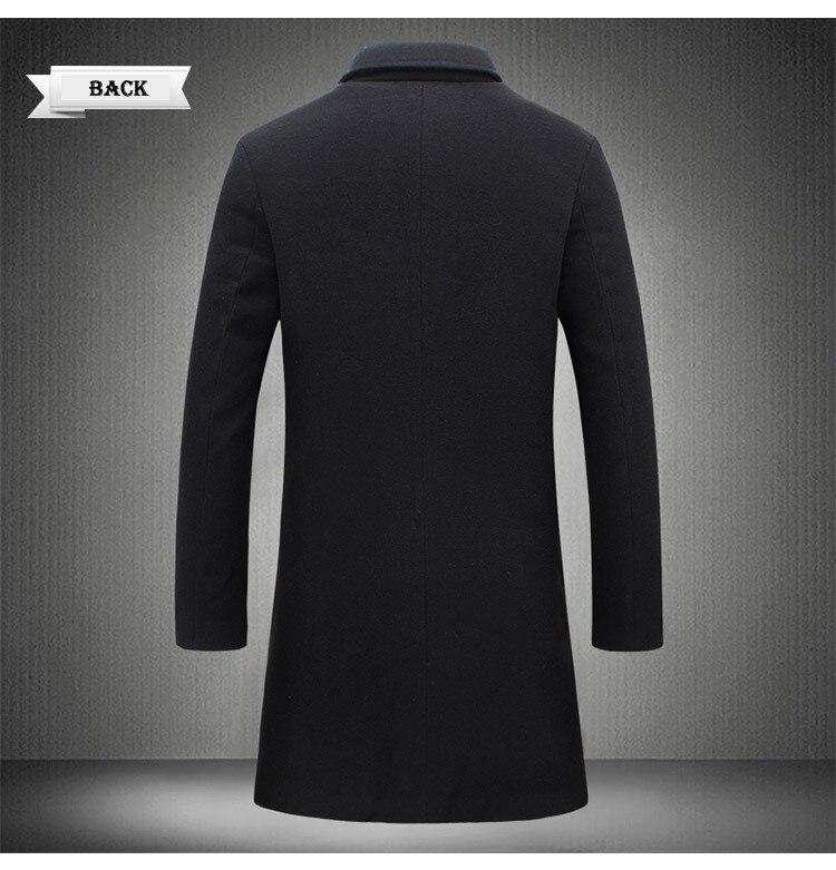 Men Fashion Jackets Men Slim Fits Coats Business Mens Long Winter Windproof Outwears Plus Size 5XL Black Hot Sale High Quality