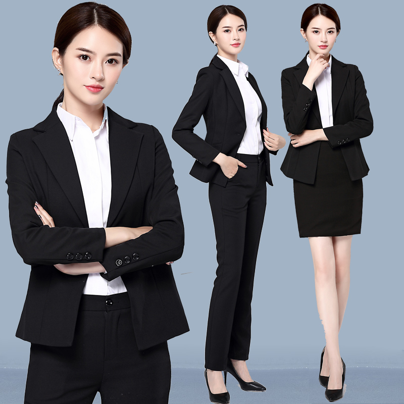 Workwear Womens Suit Autumn OL2018 Fashionable Suit Interview Dress Hotel Workwear Workwear Pants Set