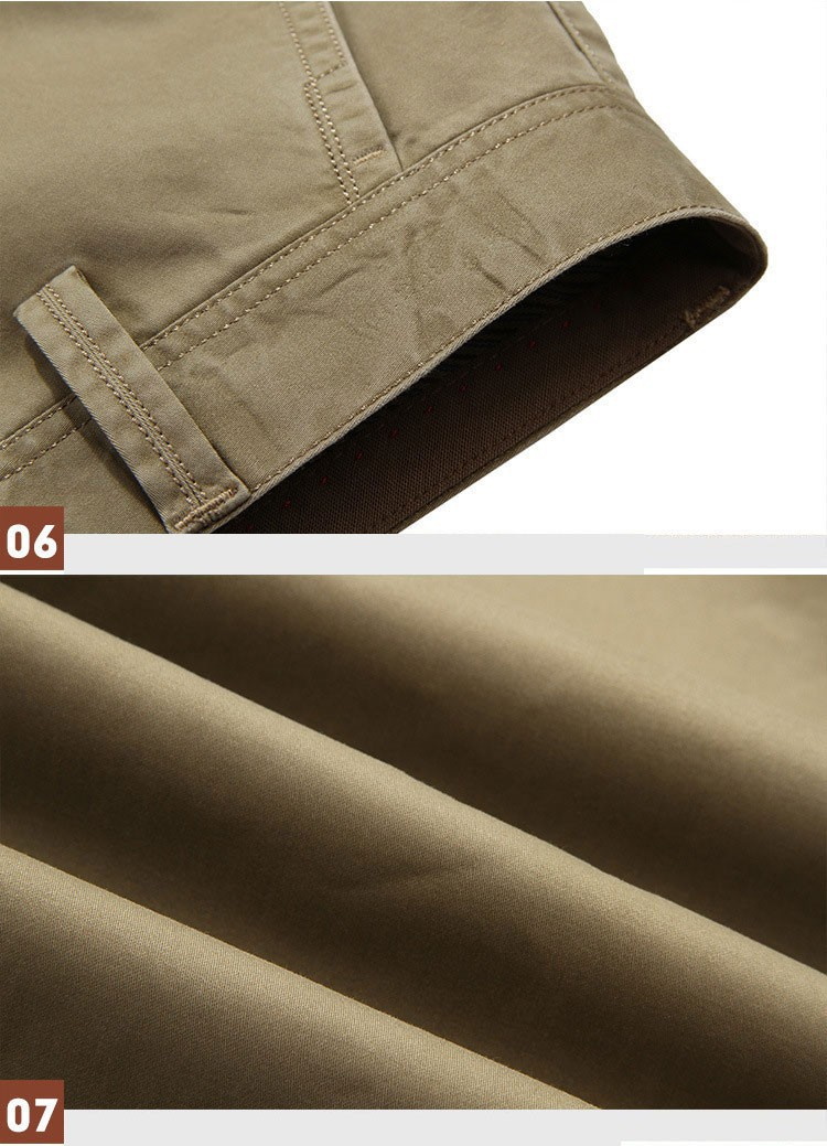 4 Colors 30-42 100% Cotton Fashion Joggers Men Casual Long Pants Men\'s Clothing Black Khaki Pants Trousers Autumn Summer Brand (13)