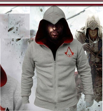 HOT Carton Assassins Creed Hoodies Connor Kenway Cosplay Costume mens jackets and coats