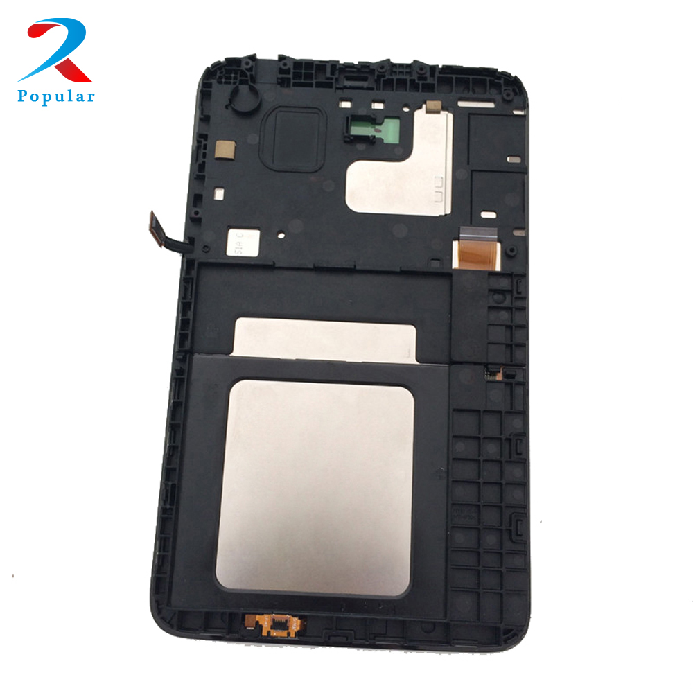 For Samsung Galaxy Tab 3 Lite 7.0 inch SM-T116 T116 Touch Screen Digitizer Sensor + LCD Display Panel Monitor Assembly + Frame 4 3 original amoled for samsung galaxy s2 i9100 lcd display screen digitizer touch screen assembly frame free shipp