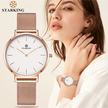 STARKING relojes de acero inoxidable para mujer, pulsera de cuarzo minimalista, de moda, informal, 2017