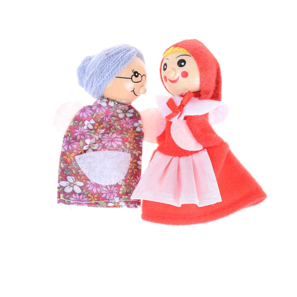 1 ชุด Fairy Tale Little Red Riding Hood ลายนิ้วมือตุ๊กตาเด็กเด็กของเล่นเพื่อการศึกษา