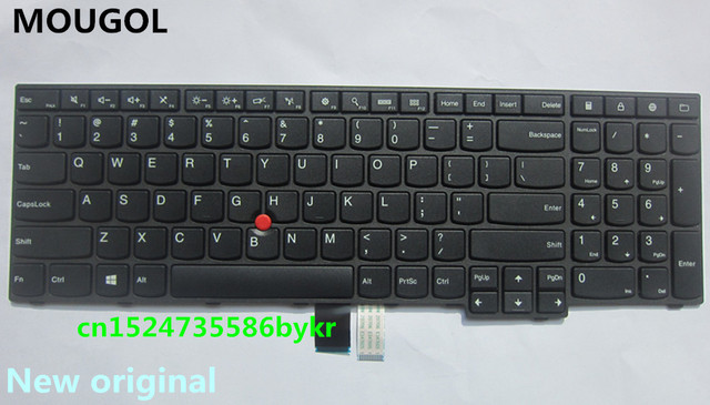 MOUGOL için Yeni Orijinal ABD Klavye Lenovo Thinkpad E550 E550C E555 E560 E565 serisi FRU 00HN000 00HN037 00HN074 PN SN20F22537