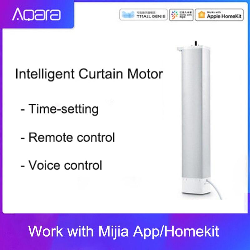 Aqara Control de ajuste de cortina inteligente cortina Motor ZiGBee versión Smart Home Mi hogar aplicación remota Control KERUI WIFI GSM sistema de alarma de seguridad para el hogar con 2,4 pulgadas TFT Panel táctil inalámbrico de Control inteligente de alarma de ladrón para hogar cámara IP