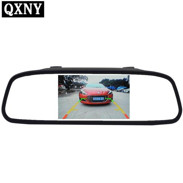 شاشة 4.3 بوصة TFT LCD شاشة ملونة وقوف السيارات الخلفية مرآة HD رصد السيارة لكاميرا الرؤية الخلفية للرؤية الليلية عكس