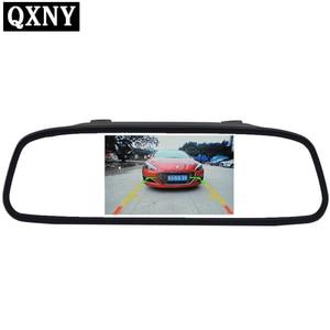 Image 1 - 4,3 дюймовый экран TFT, цветной дисплей, Парковочное зеркало заднего вида, HD автомобильный монитор для камеры заднего вида, ночное видение, Реверсивный