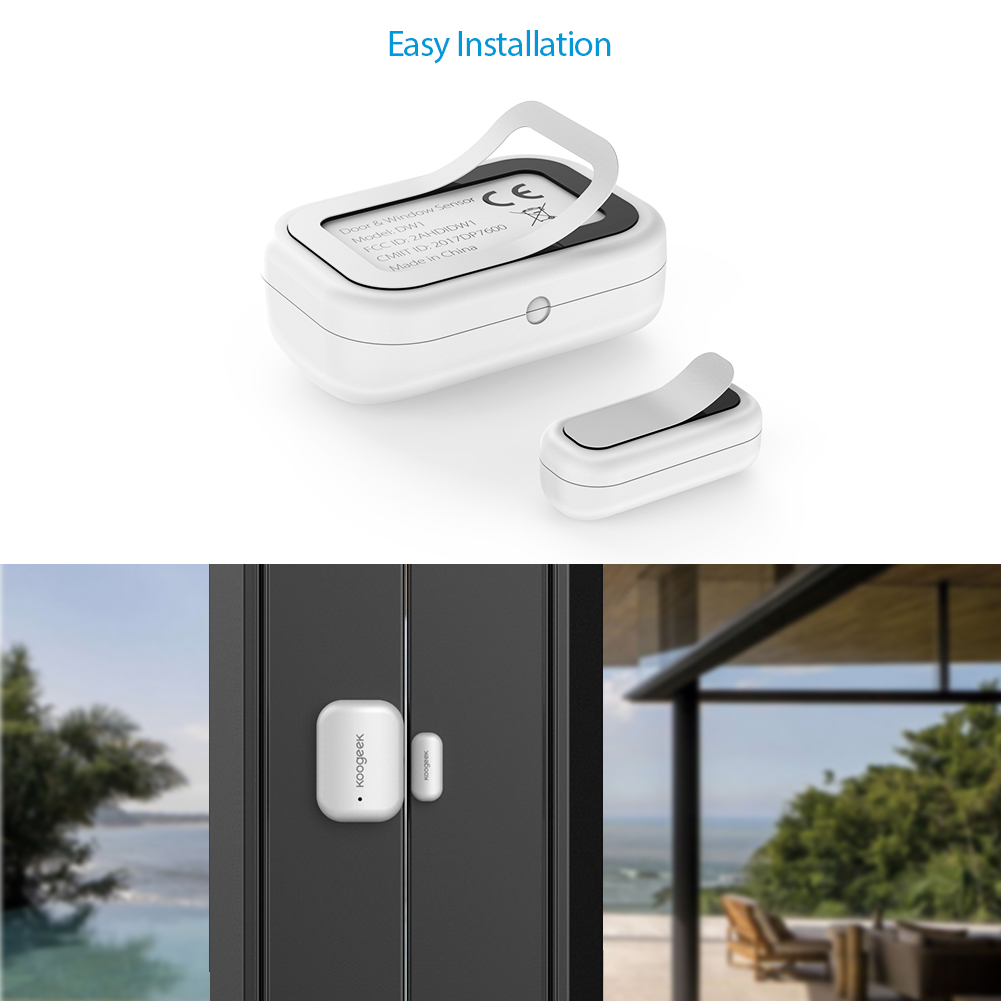 Image 5 - Koogeek Smart Door Window Sensor Wireless Home APP Remote Access Automatic Trigger For Apple HomeKit Home Security Alarm System-in Home Automation Modules from Consumer Electronics