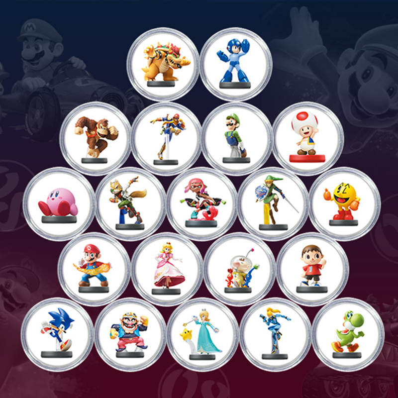 New Data Full 20Pcs/set Mario Kart 8 NFC Of Amiibo Card Collection Coin Game Card Ntag215 Printed Tag NS Switch WIIU image
