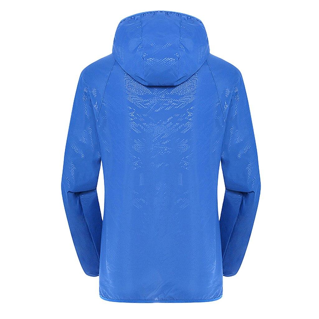 Men's Women Casual Jackets Plus Size Candy Color Windproof Ultra-Light Rainproof Windbreaker Hooded Coat Jackets 13