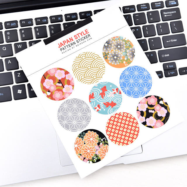 Japan sticker printing and wind is a universal sticker 9 small pieces into the