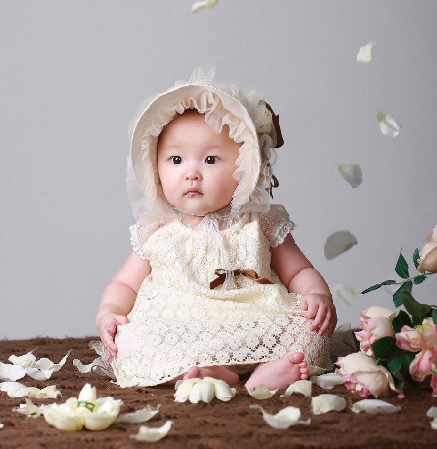 Новинка 2017 одежда для малышей девушки день одежда фотографии фото платье + ПП брюки + шляпа 3 комплекта из детская одежда Бесплатная доставка