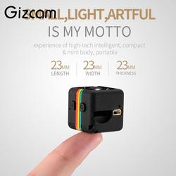 Gizcam Портативный 2mp Full HD 1080 P Ночное видение небольшой мини Камера Micro Cam видео Регистраторы DV DVR видеокамеры не включают карты памяти