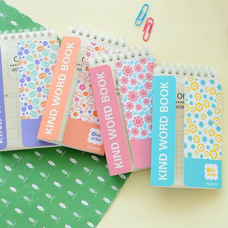 Южная Корея канцелярские языка обучения ручной книга памяти барьер английских слов катушки Маленькая книга