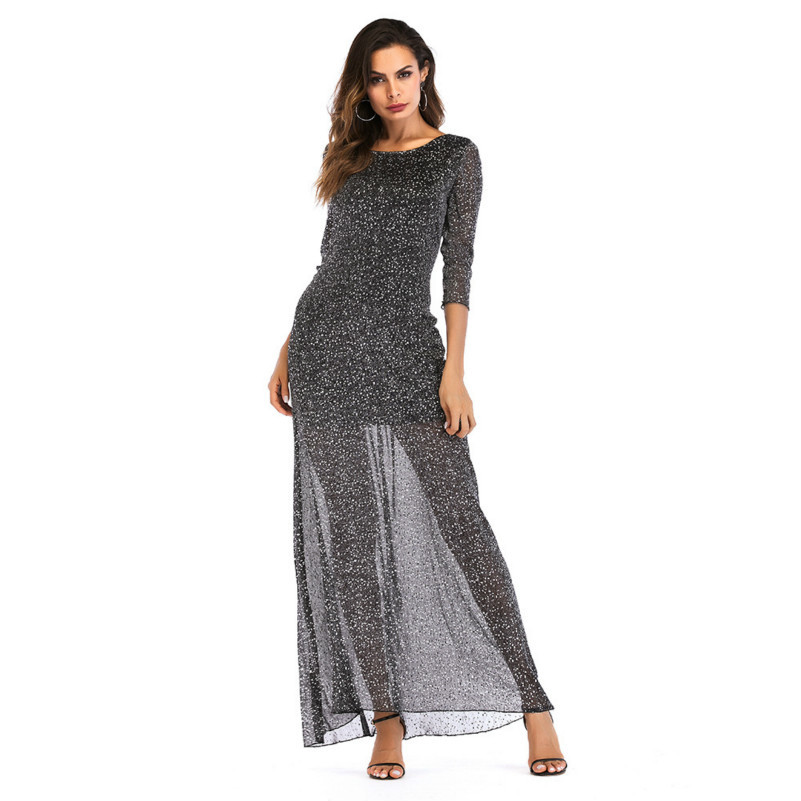 MUXU black sexy transparent dress backless robe femme long fashion vestidos jurken longue ete lange