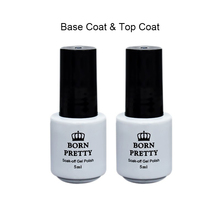 BORN PRETTY Top Coat Gel Base Coat Gel Polish No Wipe Soak Off UV Gel Manicure