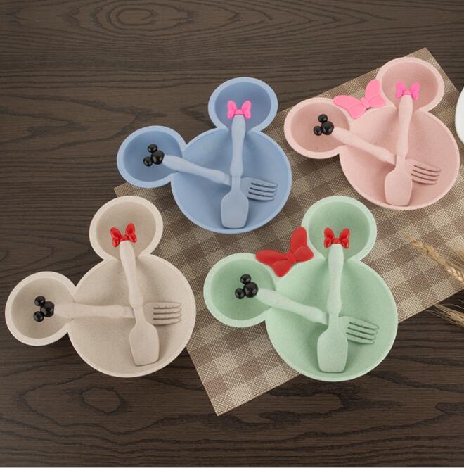 3 Teile/satz Baby Kinder Geschirr kinder Platte Set Infant Speisen Kinder Kinder Schüssel Set Kinder Geschirr Set