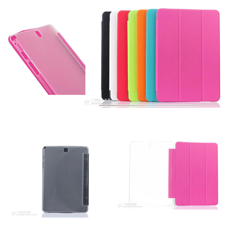 HF YQW Fashion Colors Protective PU Leather Cover Stand Case For Samsung GALAXY Tab A 9.7 T555 T550 T551 P550 P555C Tablet PC
