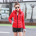 2016 winter jacket women short design slim wadded jacket female hooded outerwear down cotton-padded jacket women coat jacket