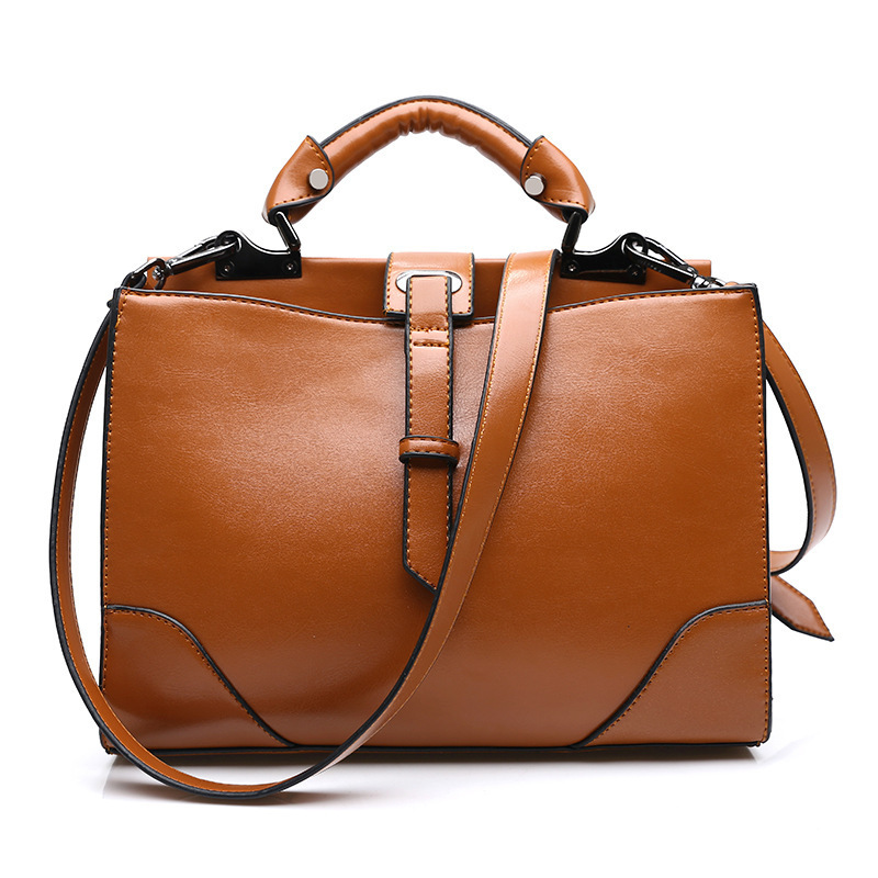 WITFLASH Brand New Real Cow Leather Woman Bag Luxury Cowhide Genuine Leather Handbags Oil Wax Women Bags Designer aetoo the new oil wax cow leather bags real leather bag fashion in europe and america big capacity of the bag