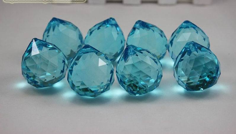 Free Shipping,260pcs/lot lighting led Aquamarine,20mm, Crystal Chandelier Ball Chandelier/Wedding Party Even supplies