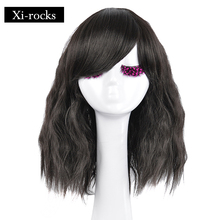3074 Xi.rocks Shaggy and Spiral Natural Color Short Wavy Synthetic Wig Fluffy Sexy wigs with Bangs for Women Cosplay synthetic adiors natural wave fluffy side parting short colormixed synthetic wig