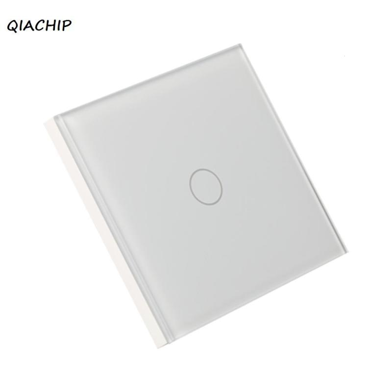 QIACHIP 1 button WiFi Smart Switch APP remote control wall switch Work with Amazon Alexa Voice Control Timing for iOS Android H4 qiachip 220v 110v wifi smart swich app wireless remote control light wall switch touch panel work with amazon alexa uk plug h4