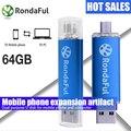 Качество Rondaful OTG USB Pen Drive 4 ГБ USB Флэш-Накопители 32 ГБ 64 ГБ Pendrive 16 ГБ U Stick USB Flash для Android Мобильный Телефон
