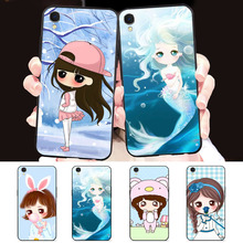 Cartoon pretty girl case for samsung galaxy s7 edge s8 s9 s10 plus lite note 8 coque silicon soft tpu phone cover