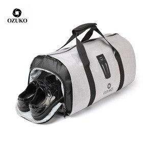 Image 2 - OZUKO 9209 Men Travel Garment Bag Women Duffel Bag Hanging Suitcase Clothing Business Backpack Bag Multiple Pockets
