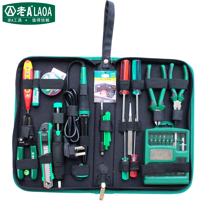 LAOA 52pcs Electric soldering iron set telecommunication tools With Precise screwdrivers screw driver set and Pliers LA101352 цена