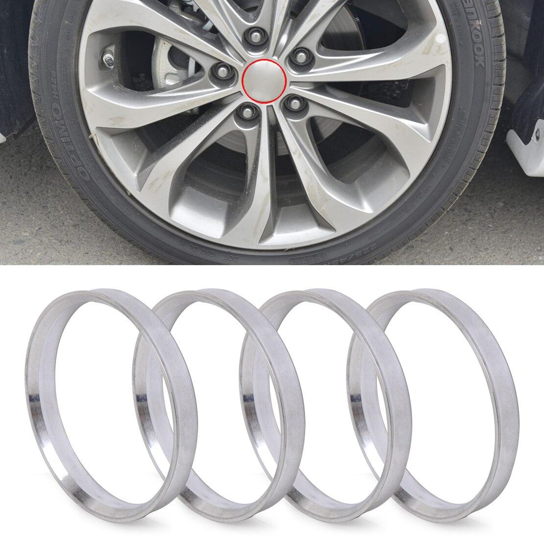 DWCX 4 pcs En Aluminium Hub Anneaux | 67.1mm Hub à 73.1mm Alésage De Roue | ID 67 | OD 73 pour Mazda 3 6 CX-7 Hyundai Tucson Kia Âme Sportage