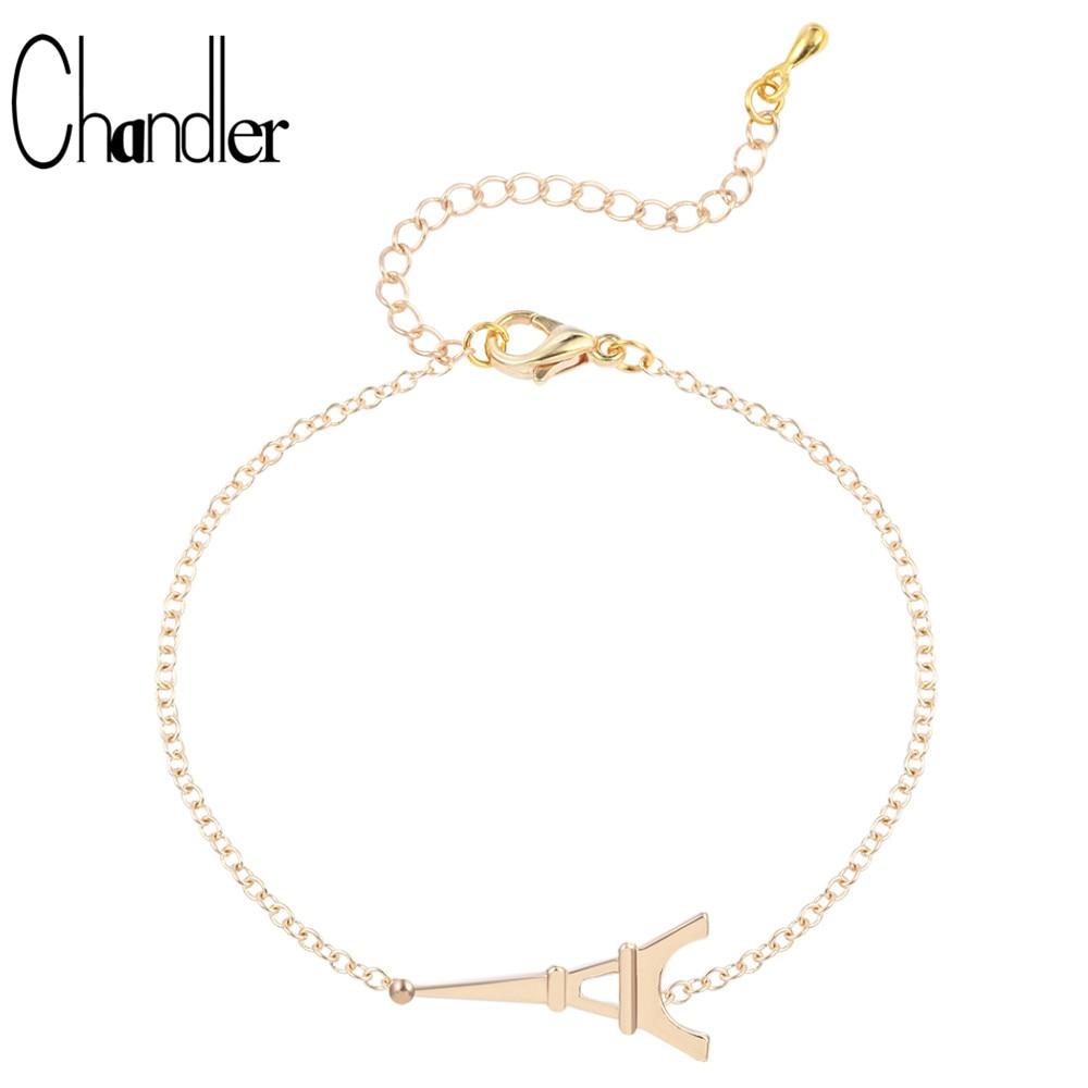Chandler Eiffelturm Charme Armband Mode Wrap Armbänder Hand Fuß Schmuck Vintage Einfache Drop Verschiffen Heißer Verkauf Großhandel