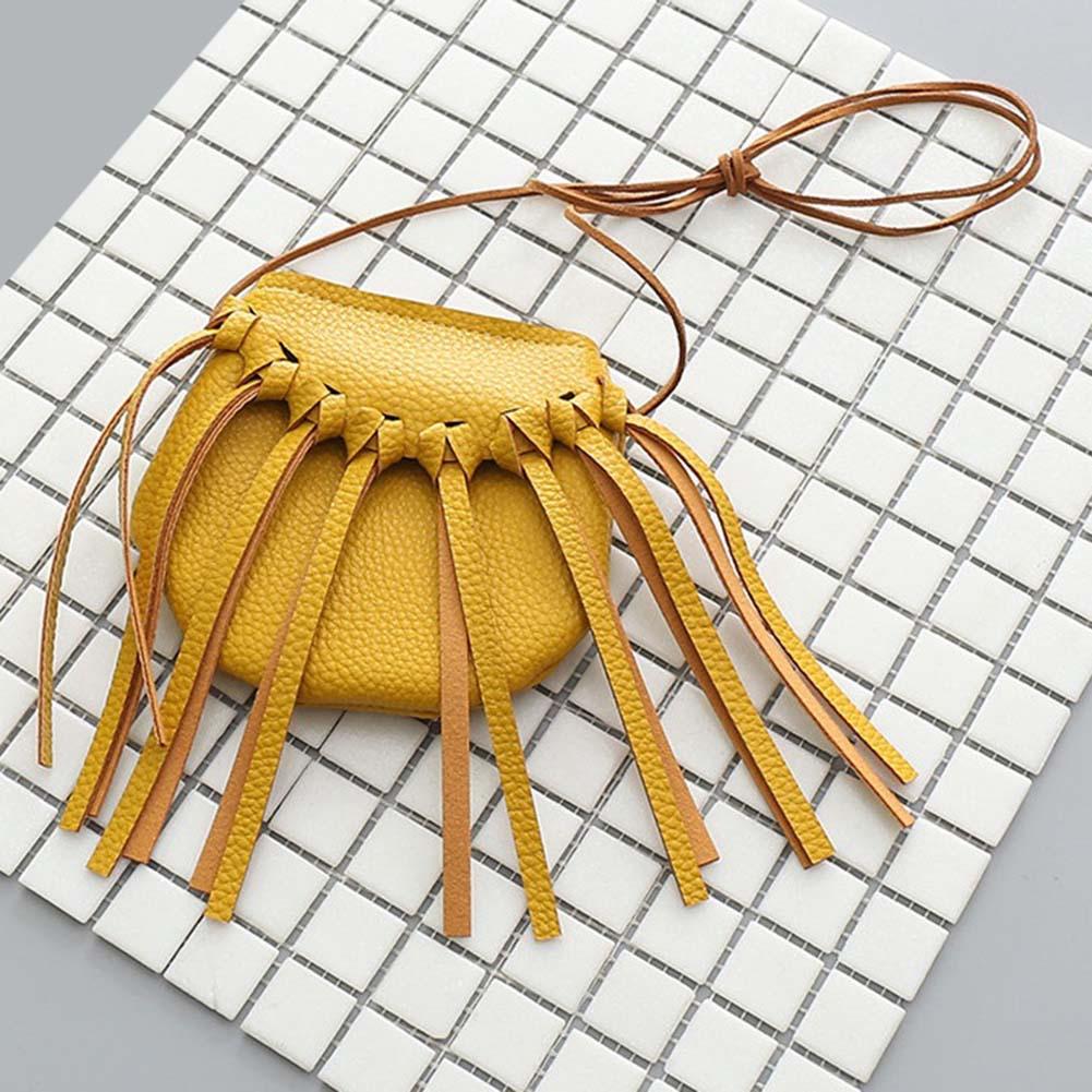New Arrilal Tassels Princess Mini Crossbody Bag Gifts For Kids Girls Cute Children PU Leather Shoulder Bag Messenger Bag Popular все цены