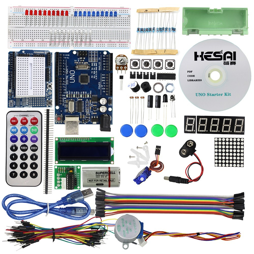 Smart Electronics UNO R3 Basic Starter Learning Kit Upgrade Version for arduino Diy Kit ...