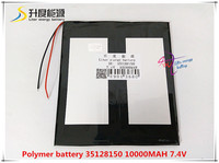7 4V 10000mAH 35128150 Polymer Lithium Ion Li Ion Battery For Tablet Pc GPS Mp3 Mp4