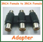 5pcs Converter 3RCA Female to 3RCA Female Extension Adapter Adaptor Connector for AV Audio Video
