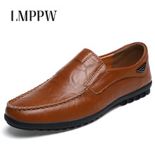 Fashion Men Loafers Slip on Driving Shoes Casual Men Flats Soft Moccasins Breathable Men Leather Shoes Brand Footwear Male 2019 muhuisen brand new fashion summer spring men driving shoes loafers real leather boat shoes breathable male casual flats loafers