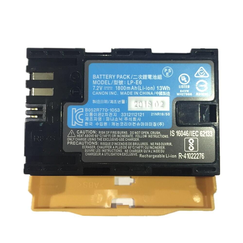 LP-E6 LPE6 cámara Digital batería LP E6 paquete de baterías de litio para Canon EOS 5DS 5D Mark II marca III 6D 7D 60D 60Da 70D 80D 5DSR