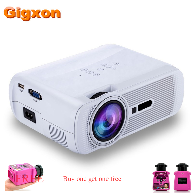 Gigxon - G80 1000 Ansi Lumens 1080*840 Full HD Mini Portable Home Theater Proyector LCD Projector телескопы бинокли gigxon 10 x 25 pc