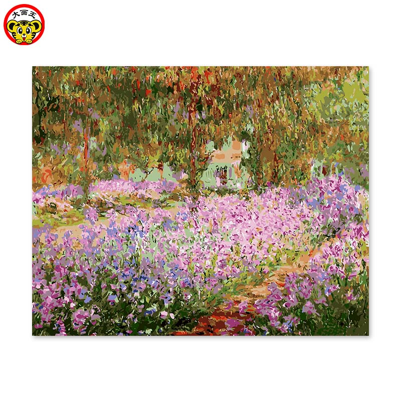 painting by numbers art paint by number  decorative painting color painted their own Monet garden impressionpainting by numbers art paint by number  decorative painting color painted their own Monet garden impression