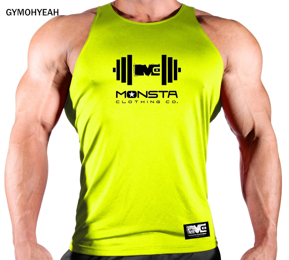 GYMOHYEAH Brand Quick Drying Clothing Bodybuilding Gyms Tank Top Men Fitness Sleeveless Shirt Cotton Men Undershirt Fashion Vest