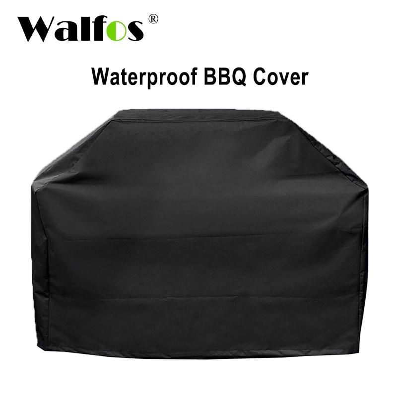 WALFOS marca impermeable parrilla cubierta de lluvia al aire libre PARRILLA Barbacoa Protector Anti polvo para Gas carbón eléctrico Barbe