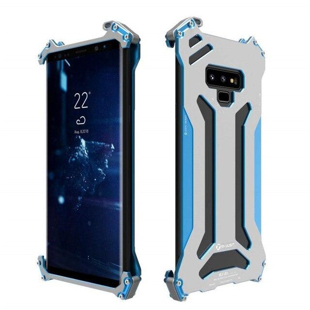 R just funda protectora de Metal para Samsung Galaxy Note 8, S7, Edge, S8 Plus, a prueba de golpes, a prueba de polvo, para Galaxy Note 9
