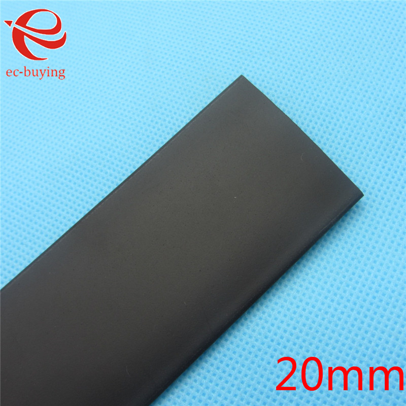 1m Heat Shrink Tubing 20mm Heatshrink Black Tube Inner Diameter Wire Wrap Cable Kit