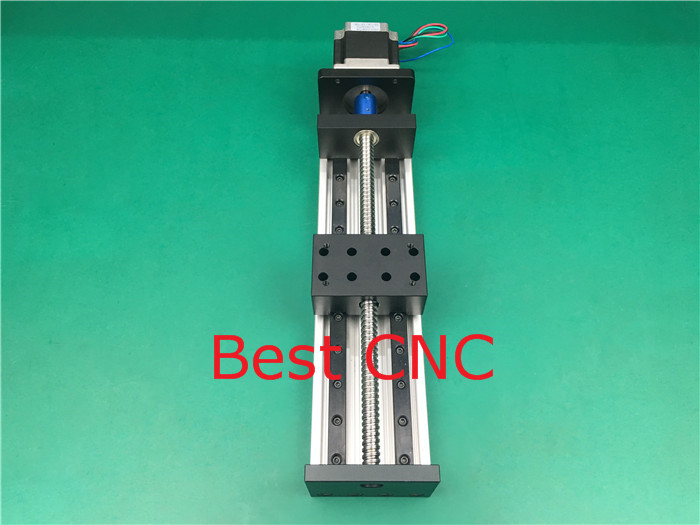 High Precision CNC GX 80*50 1204 Ballscrew Sliding Table 600mm effective stroke +1pc nema 23 stepper motor axis Linear motion toothed belt drive motorized stepper motor precision guide rail manufacturer guideway