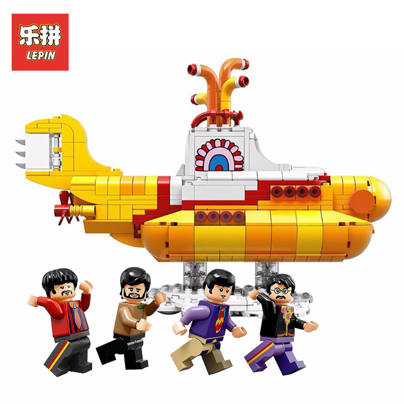 Lepin 21012 553Pcs Genuine Movies Series Classic characters Building Blcoks Bricks Toys Model LegoINlys 21306 for Children gifts lepin 21012 builder the beatles yellow submarine with 21306 building blocks bricks policeman toys children educational gift toys