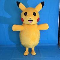 Pikachu Pokemon Mascot Costume Fancy Dress Outfit Free Shipping