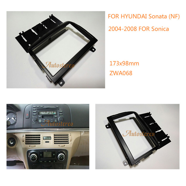 Aftermarket Double Din Radio Stereo Mount Frame Installation Dashboard Dash Kit For Hyundai Sonata Nf