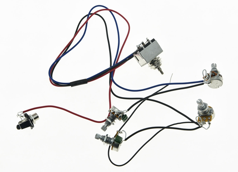 Lp Prewired Wiring Harness Alpha 500k 16mm Pots 2v2t 3 Way Switch For Les Paul